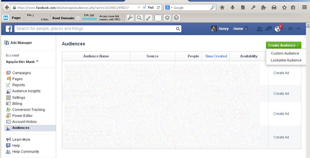 Retargeting Facebook 1