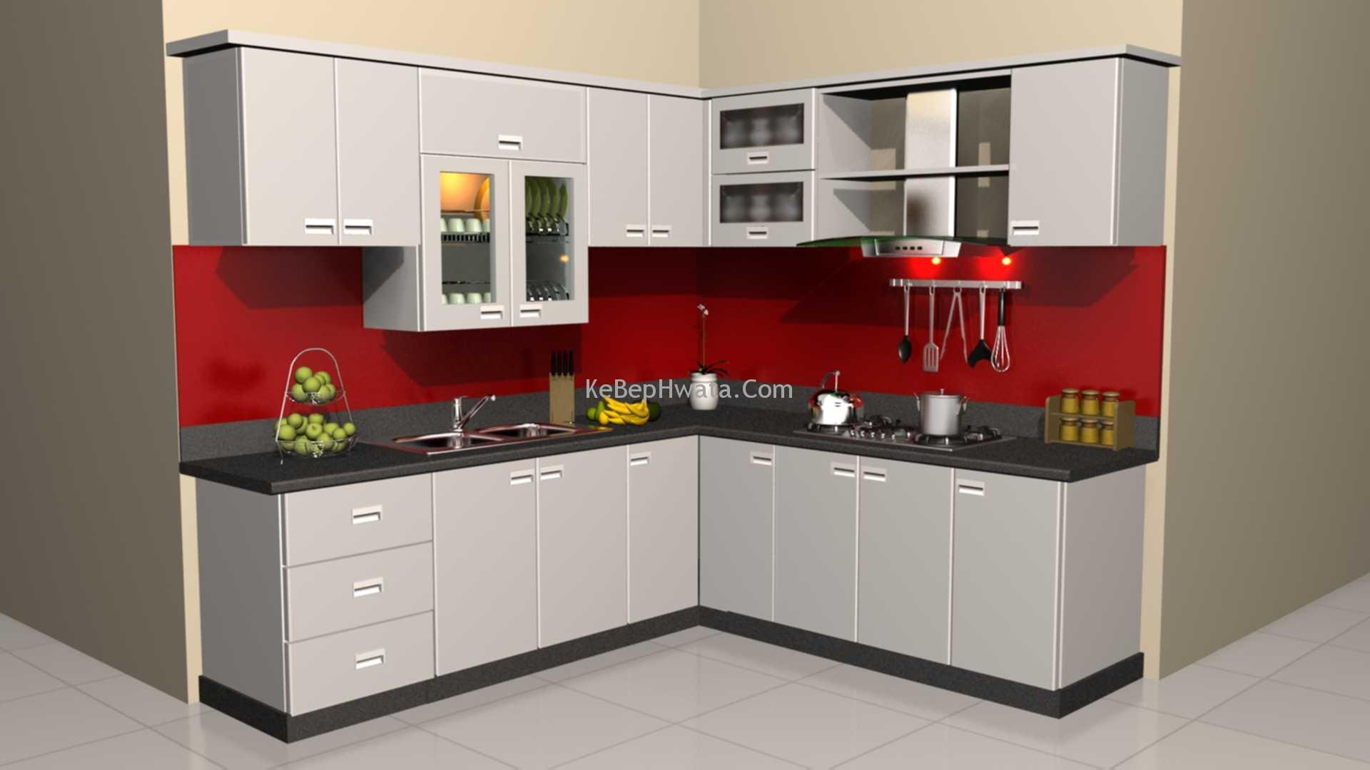 Tủ bếp inox luôn đảm bảo tính bền đẹp và sáng bóng.