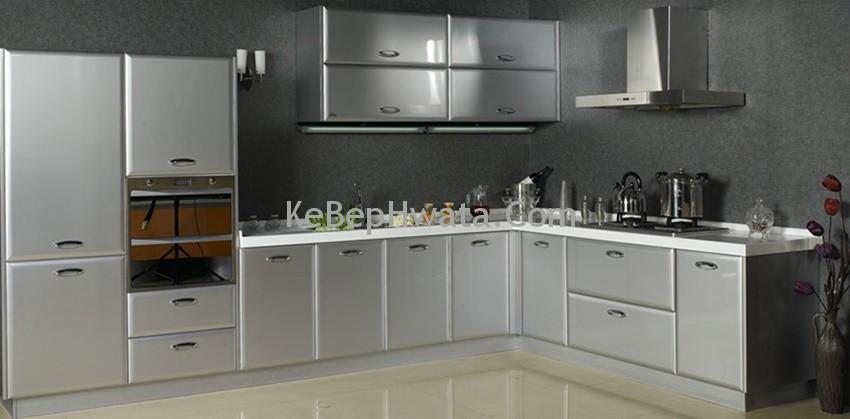 Tủ bếp inox sang trọng và hiện đại.