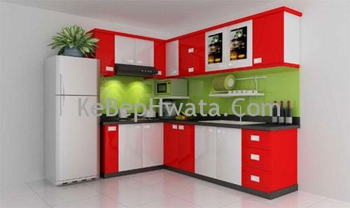 Tủ bếp inox Acrylic dành cho những gia đình trẻ.