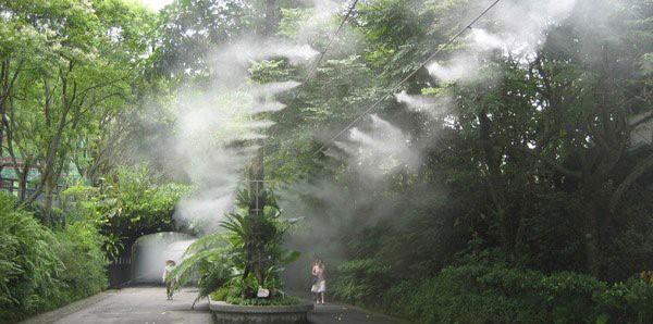 Hệ thống phun sương giúp không gian thêm huyền ảo