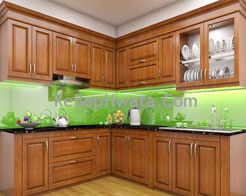 Tủ bếp inox cánh gỗ đa dạng màu sắc