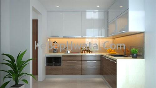 Không gian sang trọng với tủ bếp inox Acrylic