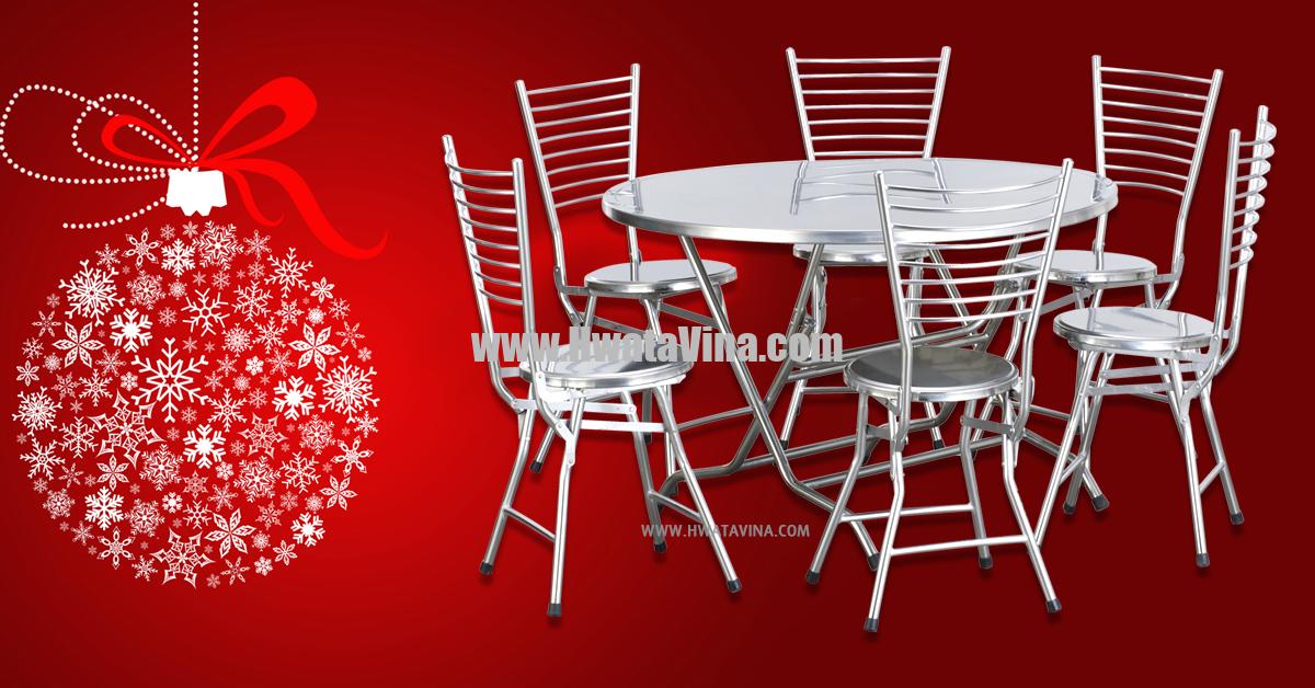 Bàn ghế Inox Hwata - Nơi mua bàn ghế inox chính hãng